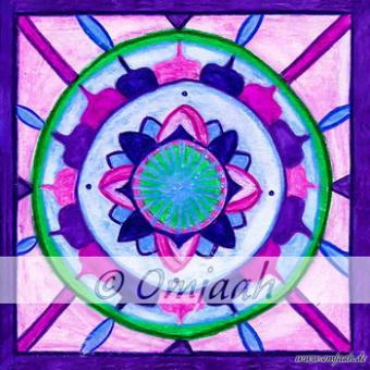 A020 - Mandala Violette Flamme
