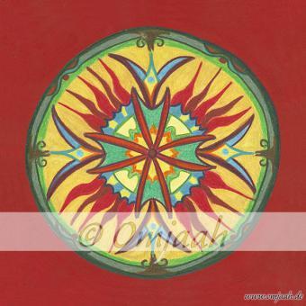 A048 - Mandala Neue Liebe Standard M  (20 x 20 cm)
