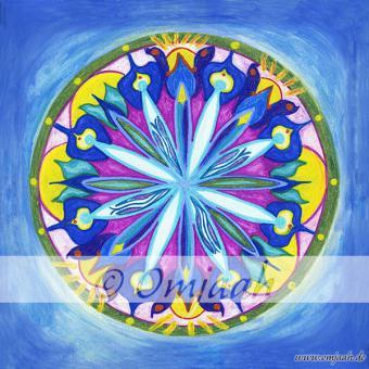 E002 - Mandala Erzengel Michael Standard S (10 x 10 cm)   Matt