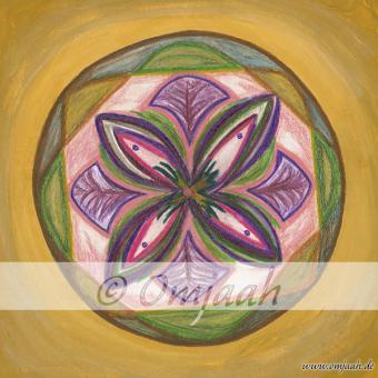 G043 - Mandala Rosa grüner Turmalin